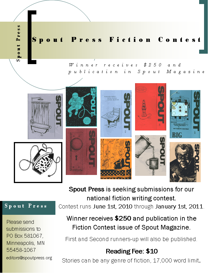 flier for Spout Press Fiction Contest